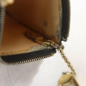 Louis Vuitton Black Monogram Multicolor Key Pouch Pochette Cles Keychain 861972