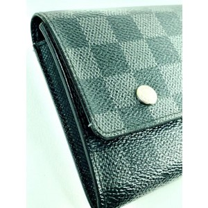 Louis Vuitton Damier Graphite Long Wallet Portefeuille Modulable Sarah Flap 860382