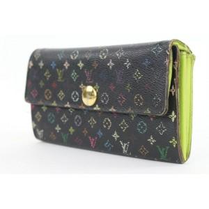 Louis Vuitton Black Multicolor Sarah Long Wallet 16lvs18