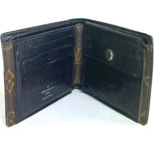 Louis Vuitton Black Macassar Gasper Gaspar Monogram Bifold Men's 5la521 Wallet