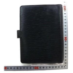 Louis Vuitton Medium Ring Black Epi Agenda MM Diary Cover 872912