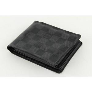 Louis Vuitton Black Damier Graphite Multiple Slender Marco Florin Wallet 10lvs1224