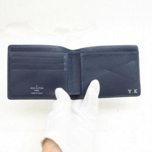 Louis Vuitton Black Epi Portefeuille Multiple Bifold Wallet 871512
