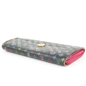 Louis Vuitton Black Multicolor Sarah Wallet Long Flap 862614