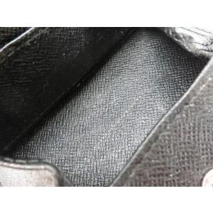 Louis Vuitton Black Taiga Leather Magellan Slender 217497 Wallet
