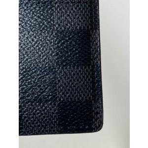 Louis Vuitton Damier Graphite Jumbo XL Card Case Rare Wallet Holder 4LVA629