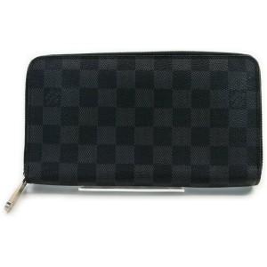 Louis Vuitton Damier Graphite Zippy Organizer Large Zip Around Wallet Clutch 861565