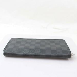 Louis Vuitton Black Zippy Organizer Damier Graphite 871032 Wallet