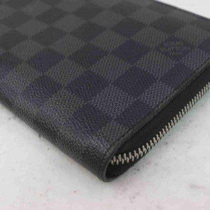 Louis Vuitton Damier Graphite Zippy Organizer Long Zip Around Wallet Large 860230