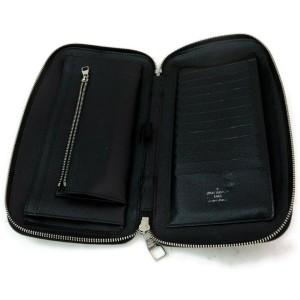 Louis Vuitton XL Zippy Organizer Black Damier Graphite Zip Around Travel Case 872622