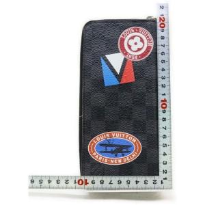 Louis Vuitton Patches Stories Stickers Damier Graphite Vertical Zippy Wallet 862496