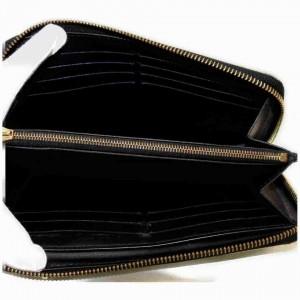 Louis Vuitton Black Suhali Zippy Wallet Long Continental Zip Around 867417