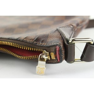 Louis Vuitton Damier Ebene Bloomsbury PM Crossbody Bag 944lvs416
