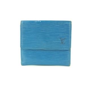 Louis Vuitton Blue Epi Leather Elise Compact Wallet with Box  16LVA1116