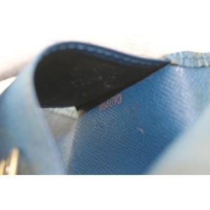 Louis Vuitton Blue Epi Leather Toledo Multicles 6 Key Holder 8lk0128