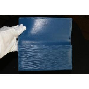 Louis Vuitton Blue Epi Leather Toledo Sarah Flap Wallet 350lvs525