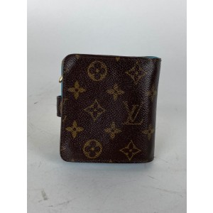 Louis Vuitton Limited Groom Compact Wallet Bellboy Monogram Blue 6lva62