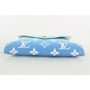 Louis Vuitton Blue Monogram By the Pool Kirigami MM Pouch Medium Envelope 21lvs422