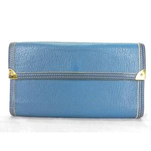 Louis Vuitton Blue Suhali Trifold Sarah 218713 Wallet