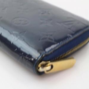 Louis Vuitton Blue Zippy Infini Monogram Vernis Zip Around Long 871174 Wallet