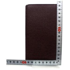 Louis Vuitton Brazza Long Bifold Flap Wallet Bordeaux Taiga Leather 872728