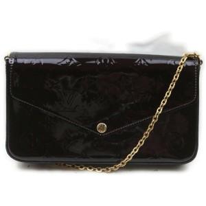 Louis Vuitton Bordeaux Amarante Monogram Vernis Felicie Pochette Crossbody 862703