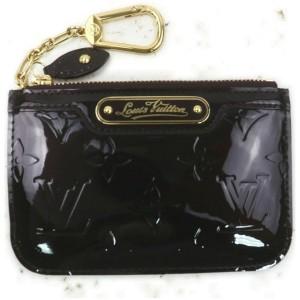 Louis Vuitton Bordeaux Monogram Vernis Amarante Pochette Cles Key Pouch Coin 861667