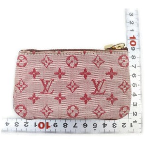 Louis Vuitton Bordeaux Monogram Mini Lin Key Chain Pochette Cles Keychain 862479
