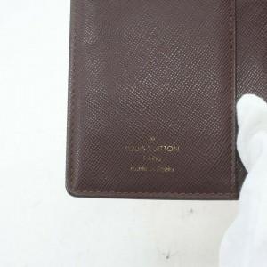 Louis Vuitton R20910 Bordeaux Monogram Mini Lin Small Ring Agenda PM 861224