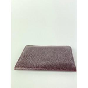 Louis Vuitton Bordeaux Taiga Leather Card Case Wallet Holder 12l520