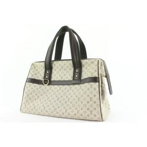 Louis Vuitton Khaki Olive Grey Monogram Mini Lin Josephine GM Boston Bag 912lvs414