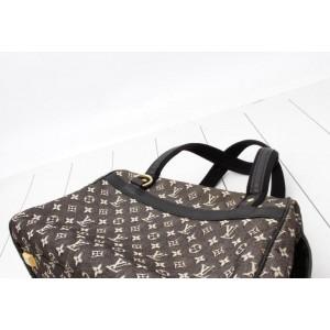 Louis Vuitton Charcoal Black Monogram Mini Lin Josephine PM Speedy Boston Bag 861940