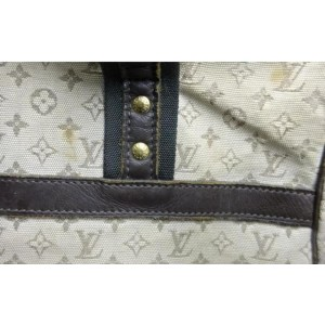 Louis Vuitton Khaki Olive Monogram Mini Lin Josephine PM Speedy Boston Bag 862138