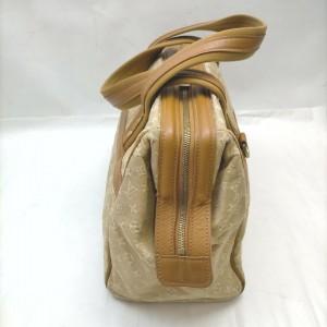 Louis Vuitton Rare Beige Monogram Mini Lin Josephine GM Speedy Boston Bag 862724