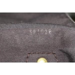 Louis Vuitton Ebene Brown Monogram Mini Lin Speedy 30 Boston Bag 172lvs53