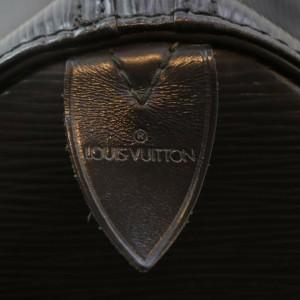 Louis Vuitton Black Epi Leather Noir Speedy 30 Boston Bag  862102