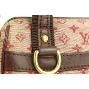 Louis Vuitton Bordeaux Monogram Mini Lin Josephine PM Speedy Boston Bag 862835