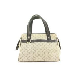 Louis Vuitton Olive Khaki Monogram Mini Lin Josephine PM Speedy Boston Bag 862827