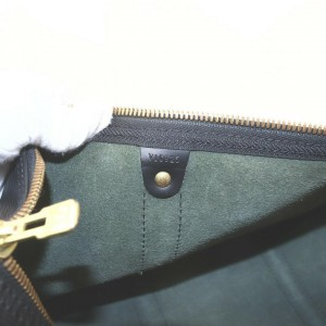 Louis Vuitton Black Epi Leather Noir Keepall 50 Duffle Bag 863133