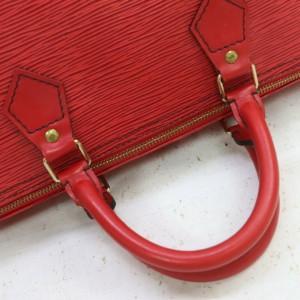 Louis Vuitton Large Red Epi Leather Speedy 40 Boston Bag 863154