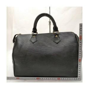 Louis Vuitton Black Epi Leather Noir Speedy 30 Boston Bag 863146
