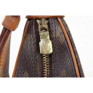 Louis Vuitton Monogram Boulogne Zip Hobo Shoulder Bag 7LVS1210