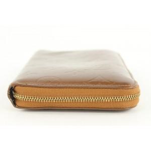 Louis Vuitton Vernis Zippy Compact Wallet Bronze 141lvs429