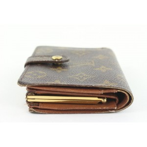 Louis Vuitton Monogram Porte Monnaie Viennois Kisslock Wallet 140lvs429
