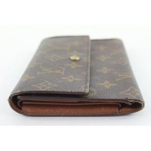 Louis Vuitton Monogram Porte Tresor Trifold Sarah Wallet Long 308lvs514