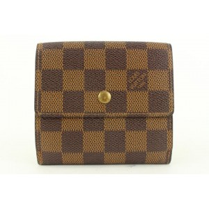 Louis Vuitton Damier Ebene Elise Compact Snap Wallet 367lvs525