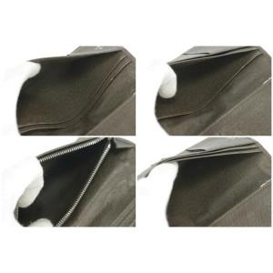 Louis Vuitton Brown Grizzli Taiga Long Brazza Wallet 3LK1212