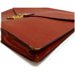Louis Vuitton Brown Epi A4 Porte Documents Senateu Envelope Clutch 871853