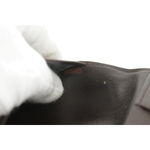 Louis Vuitton Damier Ebene Bifold Flap Wallet 6LK1221
