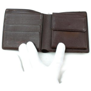 Louis Vuitton Damier Ebene Bifold Wallet Portefeuille Marco 871746